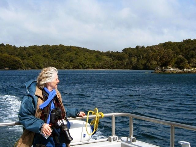 image-my-mom-on-the-boat-to-ulva-island-new-zealand