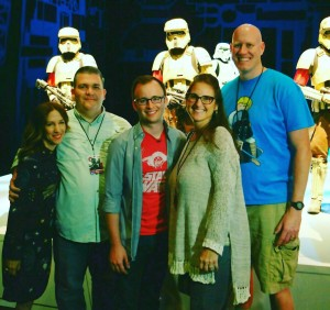 Me and CC and Chris meeting producer Allison Shearmur and John Swartz while sneak-peaking the costumes for Rogue One.