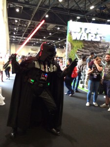 There goes Vader again with the saber.