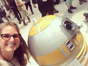 Toughest selfie to snap - R2's head barely fits!